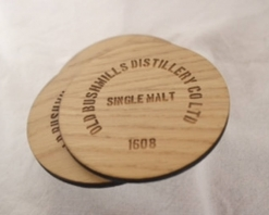 Ply Round Bushmills Coasters