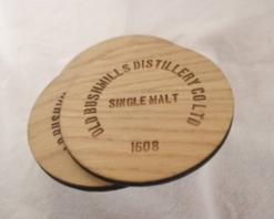 Ply Round Bushmills Coasters