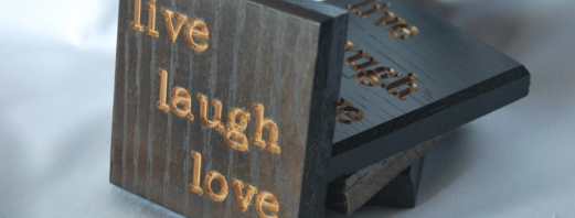 Live Laugh Love Coasters