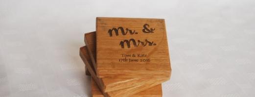 Personalised Mr & Mrs Coasters
