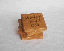 Personalised Worlds Best Dad Coasters