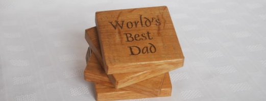 Personalised Worlds Best Dad Coasters