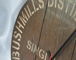 300mm Dark Oak Wall Clock