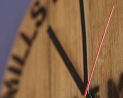 300mm Light Oak Wall Clock