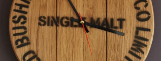 300mm Light Oak Wall Clock